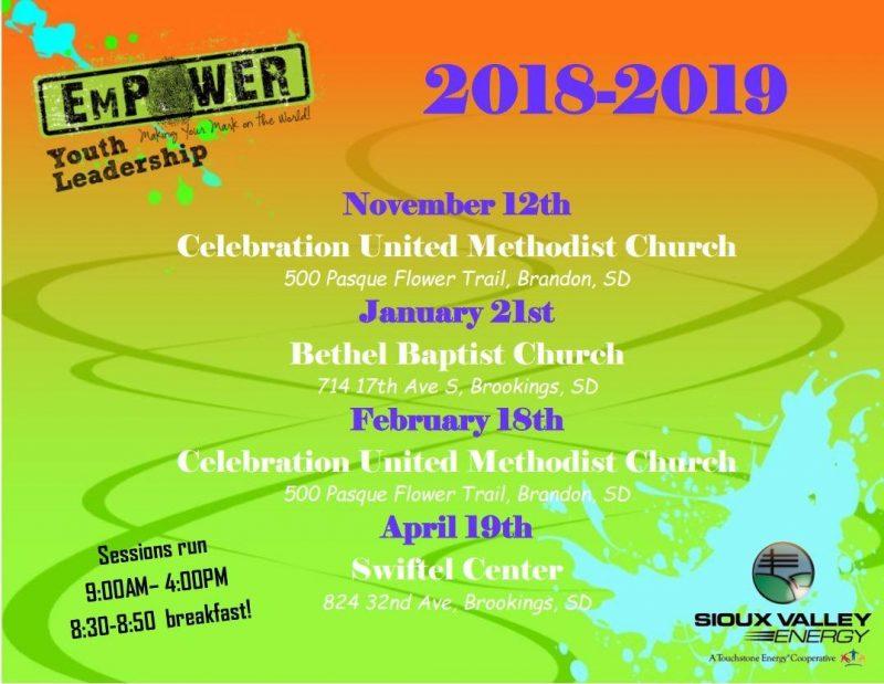 2018 19 Empower Dates